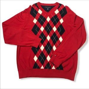 Tommy Hilfiger Argyle Sweater V neck 2X